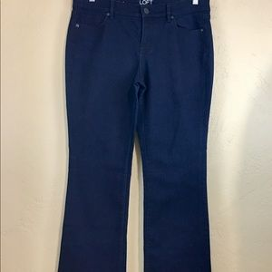 Ann Taylor LOFT Women's Denim Jeans Dark Wash